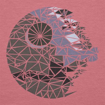 Texlab–Poligono Star–sacchetto di stoffa Pink
