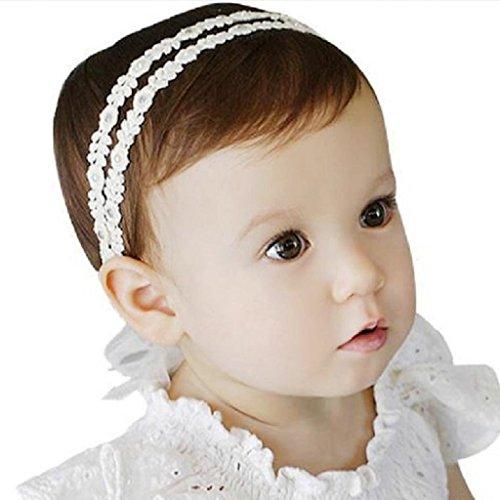 Little Sporter Baby Unisex Stirnband Halten Kopf Spitze Sterne Haarband Babyschmuck Babygeschenke Taufe