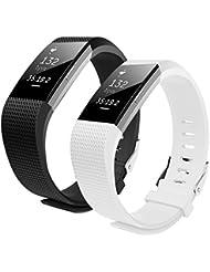 Fitbit Charge 2 Armband, Bepack Kieselgel Weiche Silikon verstellbaren Ersatz-Armband für Fitbit Charge 2 Smartwatch Herzfrequenz Fitness Wristband