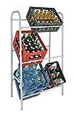 Spetebo Kastenständer XXL für 6 Kisten - Farbe: weiß - Getränkekistenregal, Kistenständer2