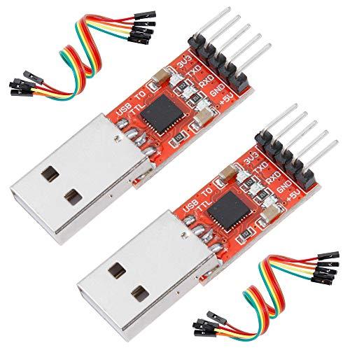 Anpro 2 × CP2102 USB zu TTL Konverter 5PIN Stecker Modul mit eingebautem für 3.3V und 5V, EINWEG (Usb-uart Adapter)