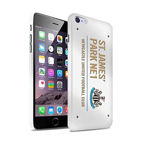 Offiziell Newcastle United FC Hülle / Glanz Snap-On Case für Apple iPhone 6+/Plus 5.5 / Pack 6pcs Muster / St James Park Zeichen Kollektion Weiß/Gold