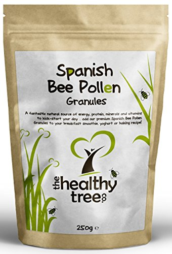 Gold Standard Spanish Bee Pollen - High in Vitamins C, B1, B2, B3, Iron, Zinc and Magnesium - Highest Quality Pure Bee Pollen Granules by TheHealthyTree Company Test