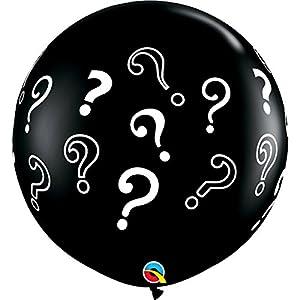 Qualatex 43400- Round Question Marks Globo de Látex, 3m, Pack de 2