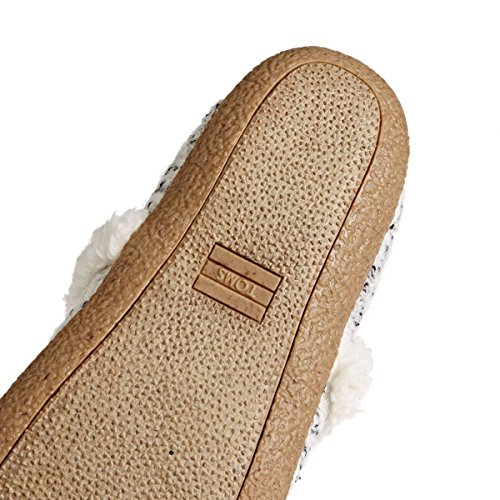 Toms Womens House Slipper Birch Woolen White
