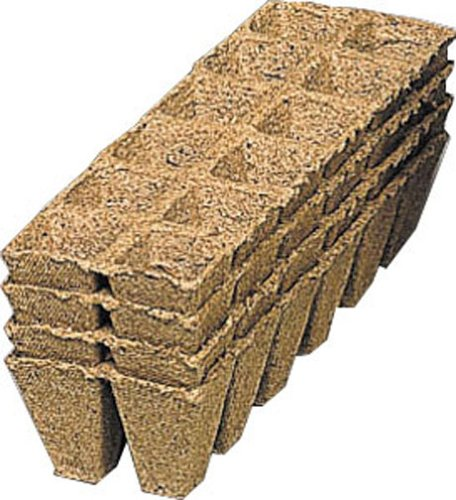 Romberg 71015K Anzuchttöpfe quadratisch, 5 cm, 144 Stück