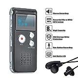 Covvy Enregistreur vocal numérique portable Enregistreur audio Son Enregistreur...