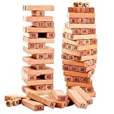 ToyCentre 54 Piece Fine Quality Wooden Jenga Blocks Game for Kids and Adults