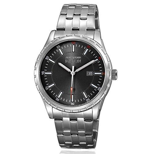 ALEXANDER MILTON - montre homme - KRONOS, argnete/noir