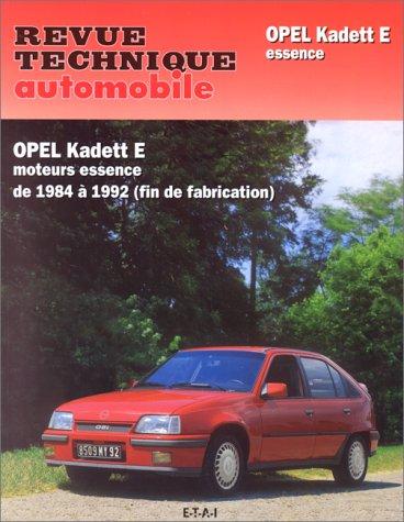 Revue Technique Automobile, numéro 461.6 Opel Kadett E