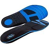 Stridetek Tactical Trainer Orthotic Insoles - Arch Support Metatarsal Pad & Gel Plugs Prevent Foot Pain Plantar Fasciitis & Shin Splints - (Blue) - Mens 11 / Womens 12