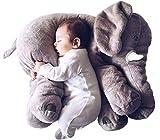 smartpillow XXL Elefant Kuscheltier I 60cm Plüschtier Groß Grau Geschenk Für Baby Kinder Kissen