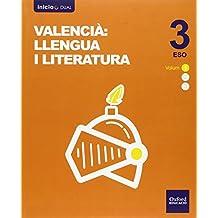Inicia Dual Lengua Valenciana Y Literatura. Volumen Anual. Libro Del Alumno - 3º ESO - 9788467398694