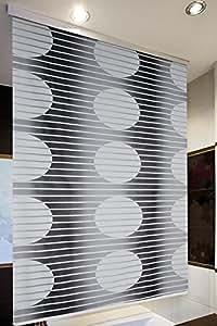 halb kassetten duschrollo 160 cm breit modell loca duschvorhang schwarz weiss shower rollo. Black Bedroom Furniture Sets. Home Design Ideas