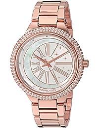 Michael Kors Damen Analog Quarz Uhr mit Edelstahl Armband MK6551 64402ba568