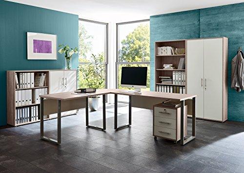 Büromöbel Arbeitszimmer komplett Set Office Edition (Set 1) in Sandeiche/Weiß