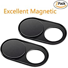 Webcam Cover 1mm THIN - (2 Pack) Magnet Slider Cubierta de la cámara - Protege su privacidad, Stops Webcam Spying, Compatible con Smartphone Laptops Macbooks PCs Tabletas y Escritorios Todo en Uno