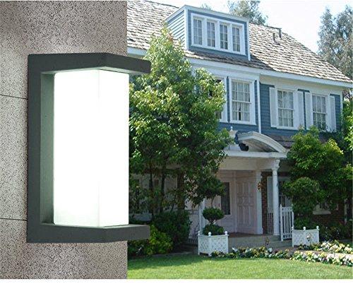Preisvergleich Produktbild Ysddian Minimalistische Outdoor Wandleuchte wasserdichte Outdoor Courtyard Villa Wandleuchte für Außenwand Leuchten / 26 x 12, 5 x 12, 5 cm Led