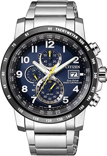 Citizen at8124-91l argento in acciaio inox orologio moda orologio