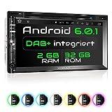 XOMAX XM-2DDA6902 Autoradio mit integriertem DAB+ Tuner, Android 6.0.1 2GB / 32GB WiFi 3G/4G OBD2 Support, Navigation, Bluetooth Freisprecheinrichtung, 6,9