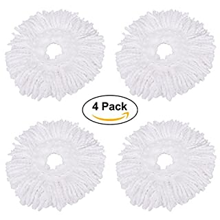 AZX 4 Pack Mop Head Replacement Universal 360°Rotating Microfiber Mop Head Refill Super Spin Dry Mop