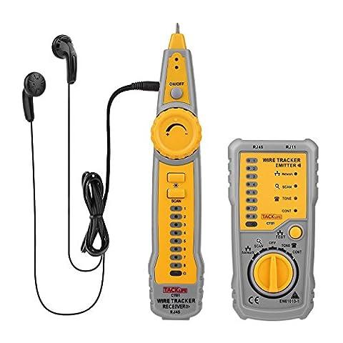 Tacklife CT01 Classique Détecteur Testeur de Câbles RJ45 RJ11 pour