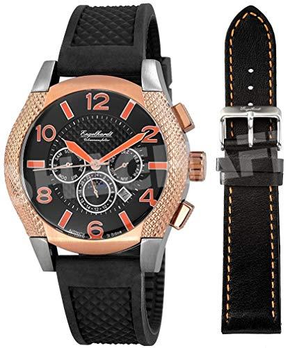 Engelhardt Herren Analog Mechanik Uhr mit Gummi Armband 387721329016