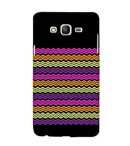 Wave Pattern Design 3D Hard Polycarbonate Designer Back Case Cover for Samsung Galaxy On5 Pro :: Samsung Galaxy ON 5 Pro