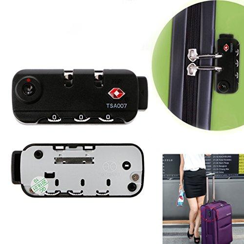 Cuigu TSA Secure 3 Chiffres Combinaison Serrure Cadenas Serrure Valise Voyage Code Lock