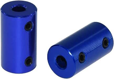 8mm-8mm FTVOGUE Coupleur daccouplement daxe de prune dalliage daluminium de 1pc connectez D25 L30 8mm /à 12mm pour le moteur pas /à pas