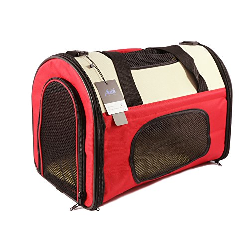 Ada-Home-Foldable-Pet-Carrier-for-Cats-Dogs-Two-Tone