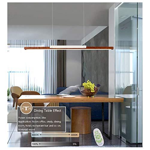 LED Hängeleuchte esstisch Pendelleuchte aus Holz dimmbar 35W mit den Fernbedienung pendellampe höhenverstellbar Azanaz Hängelampe esszimmer, Arbeitszimmer, Wohnzimmer, Küche (Brasilien Ambila) -