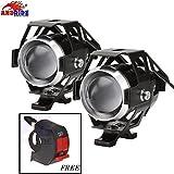 #4: Andride CREE U5 Fog Light Spotlight, Universal LED Fog Lamp Headlight Waterproof for Motorcycle/ATV/Truck w/(Pack of 2) Free 1 PC Switch