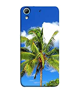 PrintVisa Designer Back Case Cover for HTC Desire 728 Dual Sim :: HTC Desire 728G Dual Sim (Coconut Tree With Sky In Background)