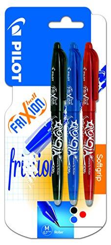 pilot-frixion-blister-de-3-stylos-bille-roulante-encre-gel-pointe-moyenne-couleurs-assorties-noir-bl