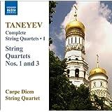 Taneyev: String Quartets (Complete), Vol. 1 (Nos. 1, 3)