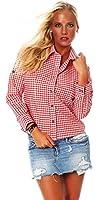 10614 Fashion4Young Damen Dirndlbluse Bluse Trachtenbluse Dirndl Trachten Oktoberfest Hemd Lederhose Dirndl