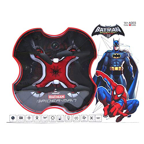 Munchkin Land Pro Quad Drone with 2.4 Ghz RC, Blade Guard, Headless Mode and LED (Spiderman)