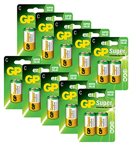 GP Batteries Pilas C/LR14 Super Alcalinas (Pack de 20)