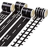 Healifty 9pcs Kids Road Tape Road Track Tape Stickers Traffic Washi Tape Kids Playing and Learning Toy