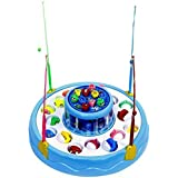Yeehaw Fishing Game Toy Set With Single-Layer Rotating Board | Safe And Durable Gift For Toddlers And Kids