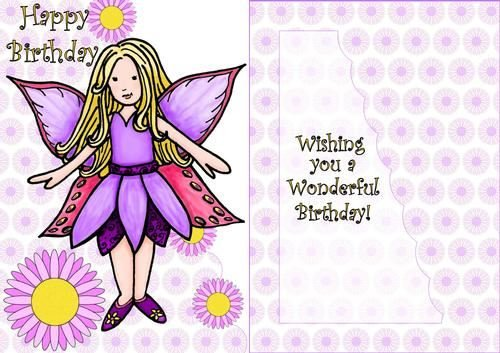 Sweet birthday fairy over the edge by kelly barker