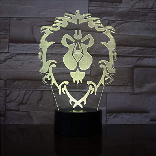 Wow Modell Löwe Rutsche Licht Nachtlicht bunten Blitz Touch Lampe Tischlampe Charakter Spielzeug