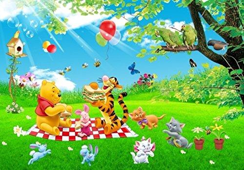 Fototapete Der Pooh Animation Große Wandbilder Kinderzimmer Cartoon Hintergrundbild Pvc-Tapeten Disney Grün - Kinder, Tapete, Disney Mädchen,