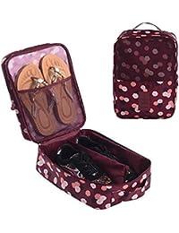 Gossipboy Portable scarpe borsa da viaggio impermeabile a shoe Tote bag shoe organizer cassa della tasca del supporto 3?paia di scarpe Dark blu