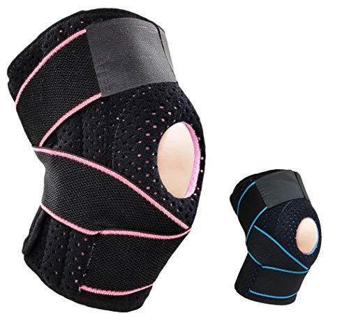 HASAGEI AOHAN Kniebandage Verstellbare Bandage Knie Ärmel Kalte Schulter Pads für Sport Running Klettern Reiten Basketball Badminton, Rose, Einheitsgröße