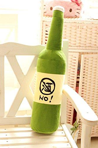 Kreativ Flasche Kissen Arm Support Kissen Schlafkissen weich Plüsch Spielzeug Plüschtier Auto Sessel Sitz Kissen ( No Wine, 70cm ) -