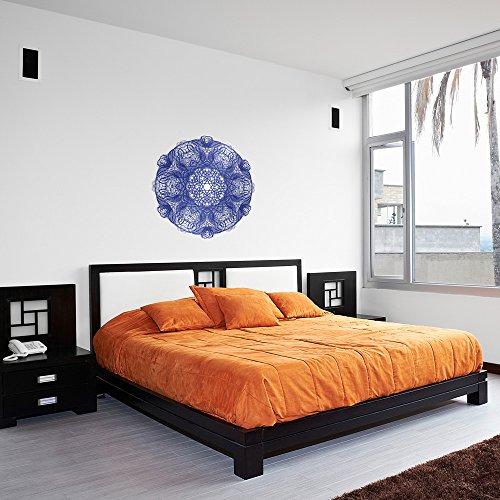Calligraphy Purple Mandala Vinyl Wall Art Sticker / Vinile da Parete / Adesivi per la Casa