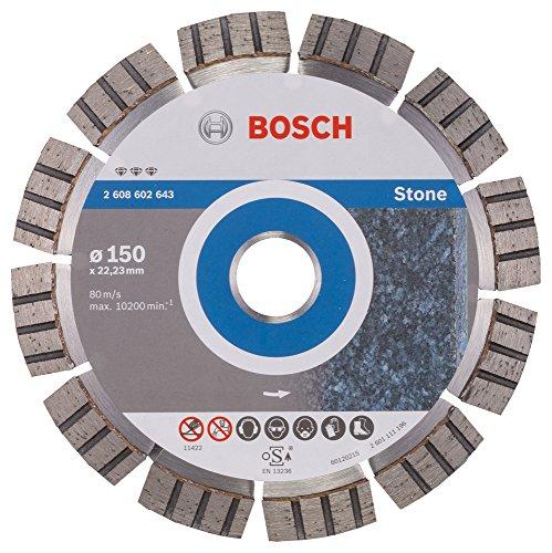 BOSCH Diamanttrennscheibe Best für Stone, 150 x 22,23 x 2,4 x 12 mm, 2608602643