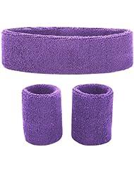 Fussox Schweißband Set Stirnband Sport Handgelenk und Kopf Schweissband Baumwolle Schweißbänder